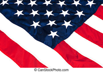 American Flag Closeup - Closeup of stars and stripes on...