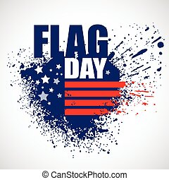 American Flag Day background design. Vector illustration