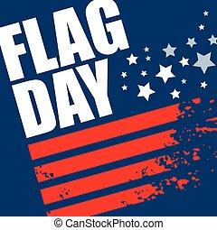 American Flag Day background design. Vector illustration