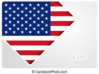 American flag design background. Vector illustration.