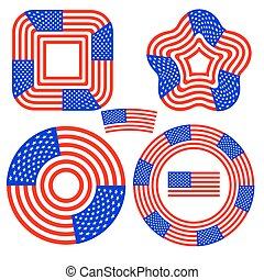 American Flag Design Elements