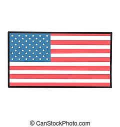 American flag design icon illustration