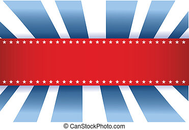 American Flag Design, red white and blue background