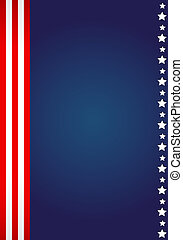 American flag design - vector illustration