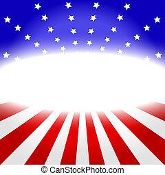 American Flag Design . vector illustration