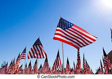 American Flag Display for Holiday - An Amercan Flag display...