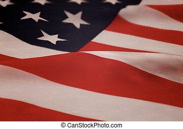 American flag. - Realistic American flag illustration. Stock...
