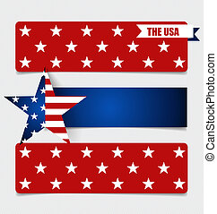 American Flag, Flags concept design. Vector illustration.