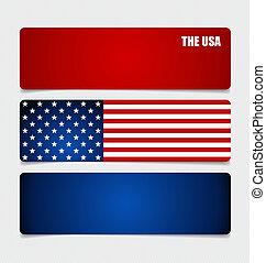 American Flag, Flags concept design. Vector illustration.
