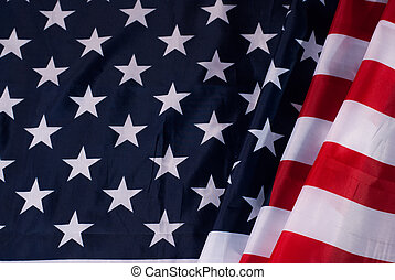 American flag flowing with texture fabric detail,