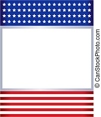 American flag frame template.