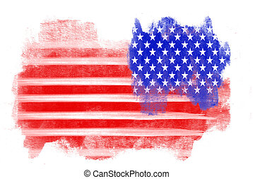 American Flag Grunge illustration