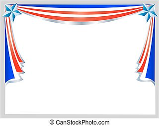 American flag holiday frame