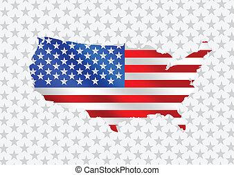 American Flag idea Vector illustrat