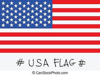 American Flag idea Vector illustrat