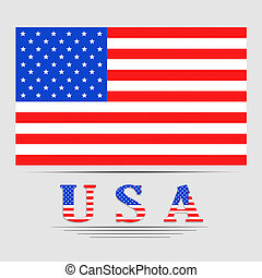 American flag illustration.