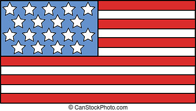 American Flag Illustration Vector