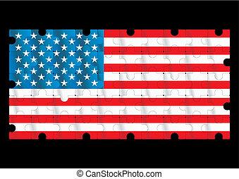 american flag - vector american flag - vector illustration