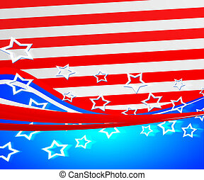 American Flag Independence Day Background