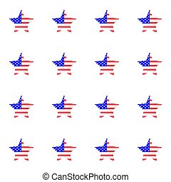 American flag is the US Independence Day.