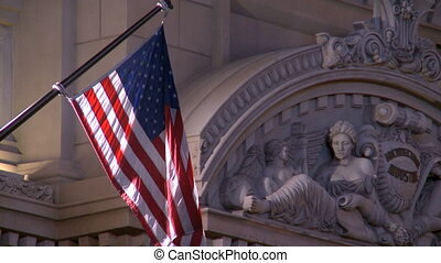American Flag Las Vegas - The American Flag at a building in...