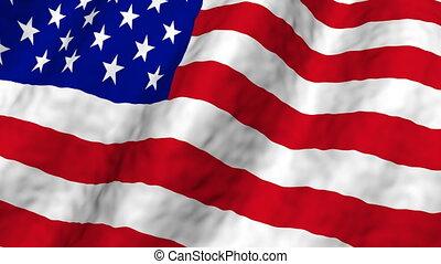 American flag loop angle one