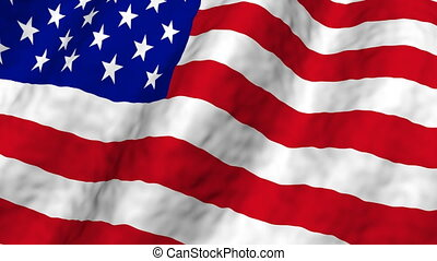 American Flag Looping Background
