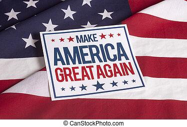 American Flag - Make America great again - resolution...
