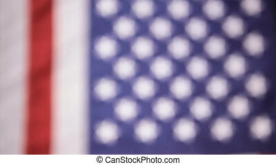 American Flag & mic, vertical