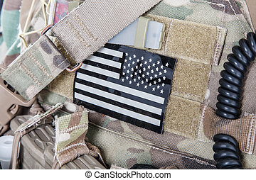 American flag military patch