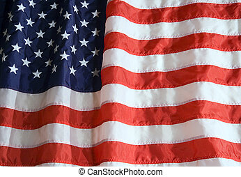 American Flag - Nylon American flag with lighting effect.