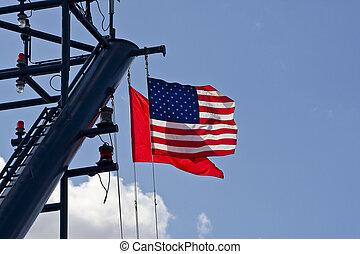 American Flag on Cruise Ship