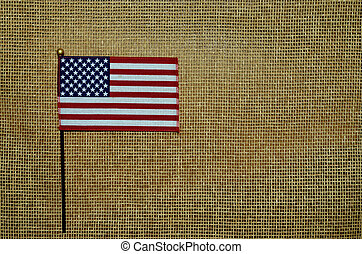 American flag on mesh background