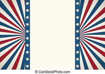 American flag patriotic background. United States blank ...