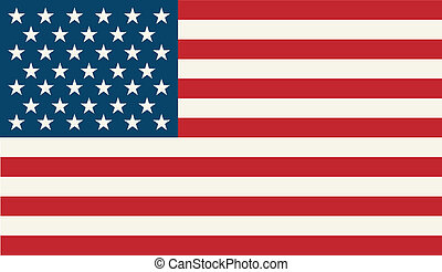 American Flag. Patriotic background. Vector illustration. ...