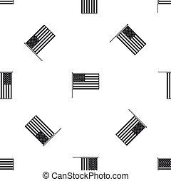 American flag pattern seamless black