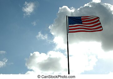 American Flag - Photographed American flag at a local event ...