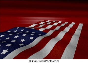 American flag, proud, wave