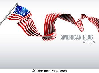 American Flag Ribbon Design
