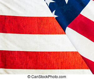 American flag section closeup