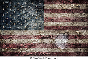 American flag. - Shabby american flag background