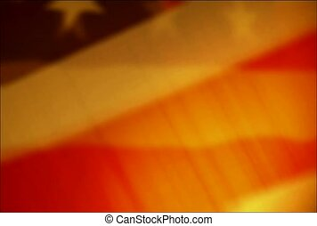 American flag, spirit, wave