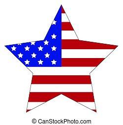 American Flag Star