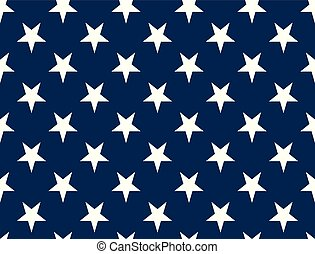 American Flag Stars - Seamless Pattern non Textured