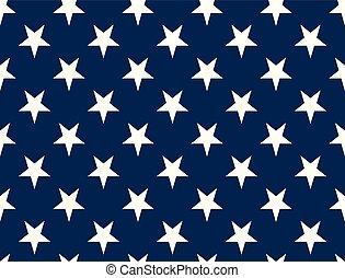 American Flag Stars - Seamless Pattern non Textured