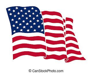 American flag, color Illustration