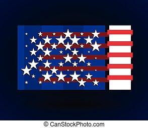 american flag style