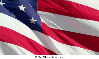 American Flag - The American flag waving patriotically