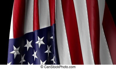 American Flag to use as a transitio - video contains two...