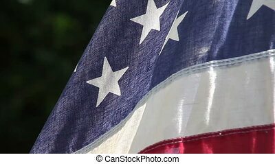 USA flag in a breeze